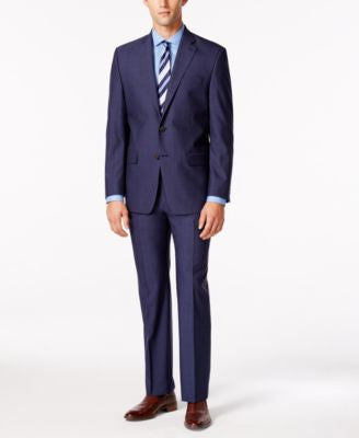 Lauren Ralph Lauren Men's Medium Blue Solid Slim-Fit Suit Separates