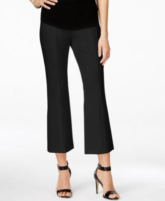 INC International Concepts Cropped Flared Trousers, Only at Vogily