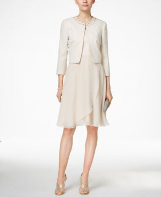 Tahari ASL Dress and Jacket Set