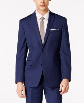 Bar III Cobalt Blue Slim-Fit Jacket, Only at Vogily
