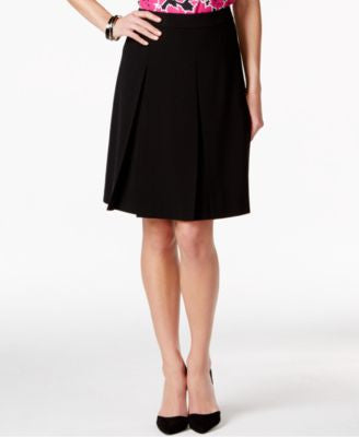 Nine West A-Line Pleated Skirt
