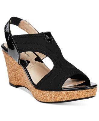 Adrienne Vittadini Carinea Platform Wedge Sandals