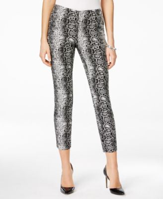 Alfani Petite Snakeskin-Print Ankle Pants, Only at Vogily