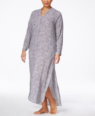 DKNY Plus Size Long Button-Front Caftan