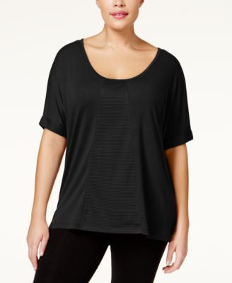 Jessica Simpson The Warm Up Plus Size Mesh T-Shirt