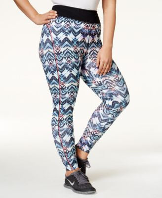 Jessica Simpson The Warm Up Plus Size Printed Leggings