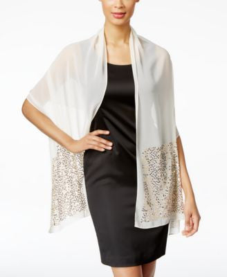 Style & Co. Sequin Border Wrap, Only at Vogily
