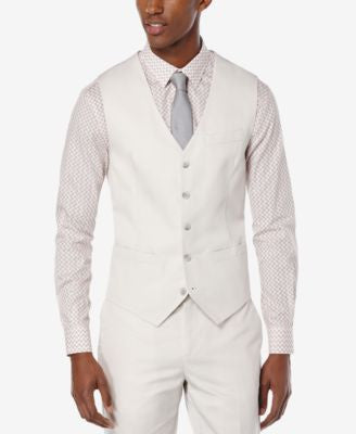 Perry Ellis Men's Lumark Solid Slim Vest