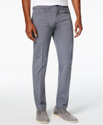 Armani Exchange Men's Straight-Fit Mini-Stripe Pants