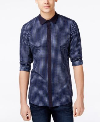 Armani Exchange Men's Pieced Printed Shirt