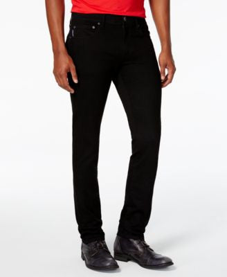 Armani Exchange Men's Slim-Fit Yarn-Dye Black Jeans