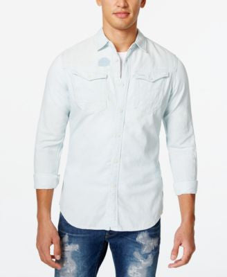 GStar Men's Raw Chambray Long-Sleeve Shirt