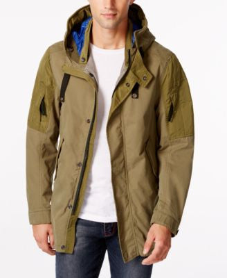 GStar Men's Cropped Hooded Parka