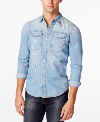GStar Men's Wolker Long-Sleeve Denim Shirt
