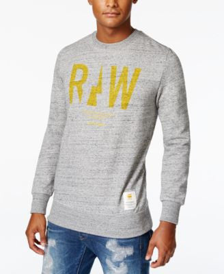 GStar Men's Rightrege Graphic-Print Logo Sweatshirt