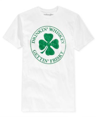 Mighty Fine Men's St. Patrick's Day Frisky Graphic-Print T-Shirt