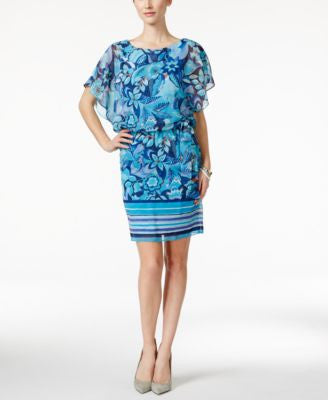 Style & Co. Floral-Print Blouson Dress, Only at Vogily