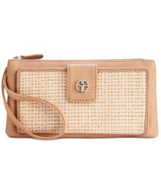 Giani Bernini Straw-Look Woven Grab & Go Wristlet, Only at Vogily