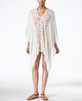 Cejon Crochet Lace Panel Cover Up