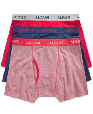 Alfani Men's Knit Tagless Slim Fit Stretch Boxer Briefs 3-Pack, Only at Vogily