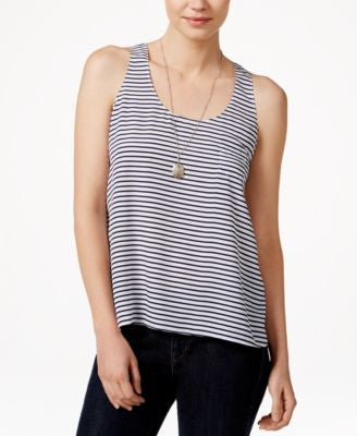 Maison Jules Striped Racerback Tank Top, Only at Vogily