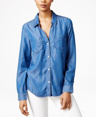 Maison Jules Chambray Shirt, Only at Vogily