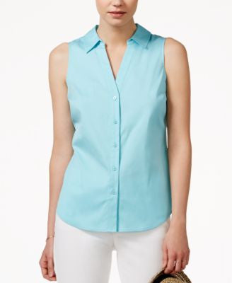 Maison Jules Sleeveless Button-Down Shirt, Only at Vogily