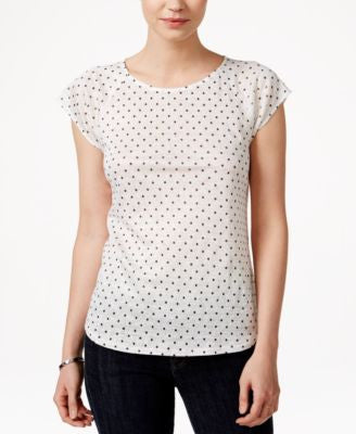 Maison Jules Metallic Polka-Dot Top, Only at Vogily