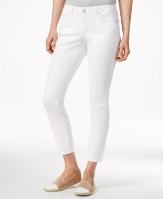Maison Jules Cropped Skinny Bright White Wash Jeans, Only at Vogily