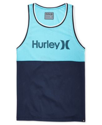 Hurley Men's Dri-FIT Freethrow Graphic-Print Logo Tank