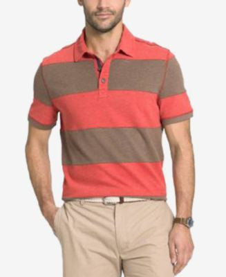 G.H. Bass & Co. Big and Tall Rugby Striped Polo