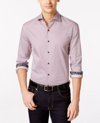 Tasso Elba Men's Big and Tall Print Long-Sleeve Shirt, Only at Vogily