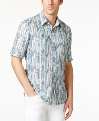 Tasso Elba Men's Linen-Silk Short-Sleeve Shirt, Only at Vogily