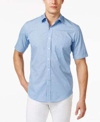 Club Room Men's Print Short-Sleeve Shirt, Only at Vogily