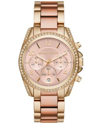 Michael Kors Women's Chronograph Blair Two-Tone Stainless Steel Bracelet Watch 39mm MK6316