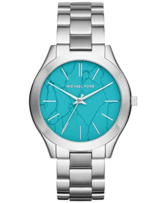 Michael Kors Women's Slim Runway Stainless Steel Bracelet Watch 42mm MK3503, Only at Vogily