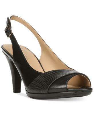 Naturalizer Indeed Peep-Toe Slingback Pumps