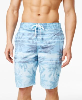 Speedo Men's Palm Striped Swim Trunks