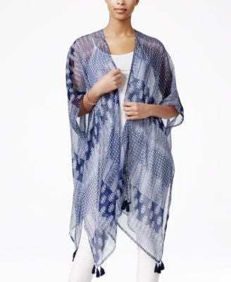 Collection XIIX Alleyways Print Poncho