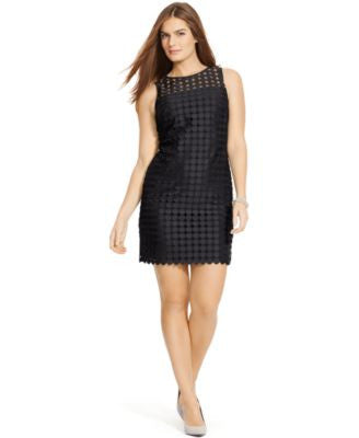 Lauren Ralph Lauren Plus Size Geometric-Lace Dress