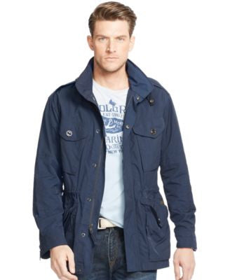 Polo Ralph Lauren Men's Big and Tall Waxed-Cotton Combat Jacket
