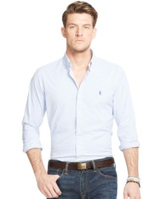 Polo Ralph Lauren Men's Big and Tall Checked Stretch Performance Shirt