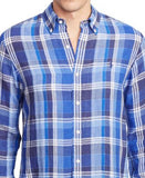Polo Ralph Lauren Men's Men's Long Sleeve Plaid Linen Shirt