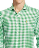 Polo Ralph Lauren Men's Men's Long Sleeve Gingham Linen Estate Shirt