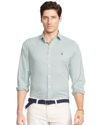 Polo Ralph Lauren Men's Men's Long Sleeve Tattersall Stretch Performance Shirt