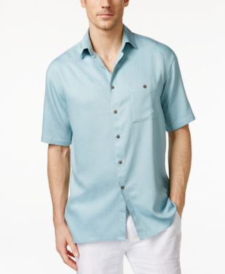 Campia Moda Men's Crepe Contrast-Button Shirt