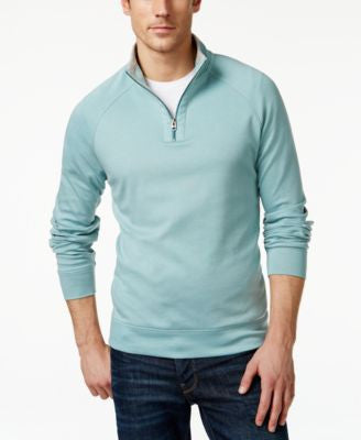 Cutter & Buck Men's Big and Tall Emery Quarter-Zip Mock-Collar Sweater