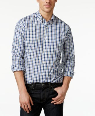 Cutter & Buck Big and Tall Men's Grant Plaid Button-Down Shirt