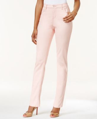 Lee Platinum Petite Gwen Straight-Leg Colored Wash Jeans