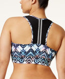Jessica Simpson The Warm Up Plus Size Printed Sports Bra